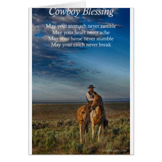 Bendición del vaquero felicitacion
