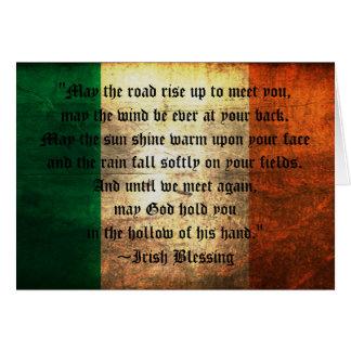 Bendición irlandesa en tarjeta de felicitación