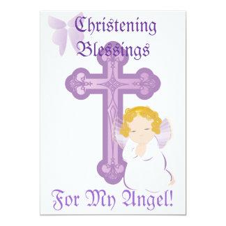 Bendición-Personalizar del bautizo de mi ángel Invitacion Personalizada