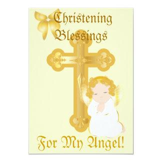 Bendición-Personalizar del bautizo de mi ángel Invitación 12,7 X 17,8 Cm