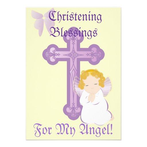 Bendición-Personalizar del bautizo de mi ángel Comunicados Personalizados