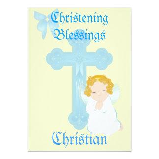Bendición-Personalizar del bautizo del muchacho Invitación 12,7 X 17,8 Cm