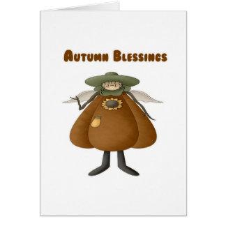 Bendiciones 2 del otoño tarjetas