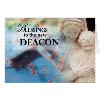 Bendiciones al nuevo diácono tarjeta de felicitación