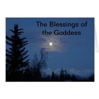 Bendiciones de la diosa de la luna tarjeta pequeña