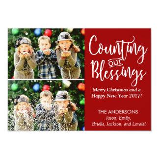 Bendiciones de la tarjeta de Navidad con la foto