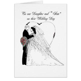 """Bendiciones del boda de la hija 2852 y del """"hijo"""" tarjeta"""