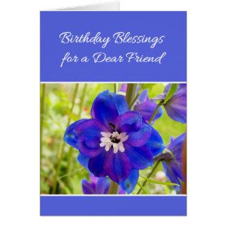 Bendiciones del cumpleaños para un estimado amigo… tarjeta de felicitación