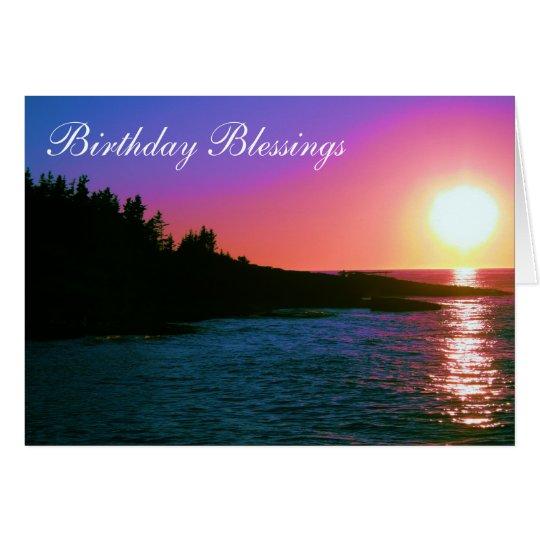 Bendiciones del cumpleaños tarjeta de felicitación