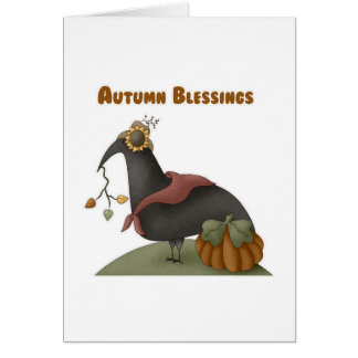 Bendiciones del otoño tarjeton