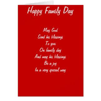 Bendiciones el día de la familia felicitacion