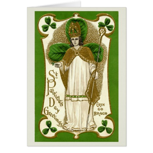 Bendiciones el el día de St Patrick - tarjeta