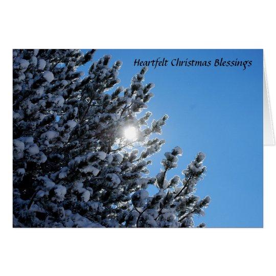 Bendiciones sentidas del navidad tarjeta de felicitación