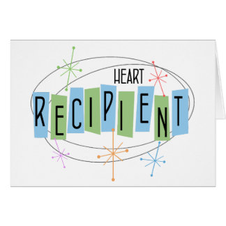Beneficiario retro del trasplante de corazón del tarjeta pequeña