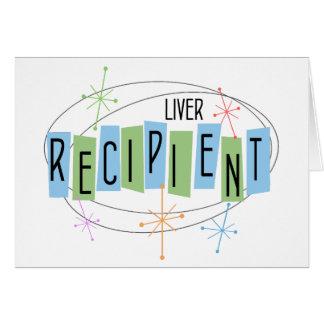 Beneficiario retro del trasplante del hígado del tarjeta pequeña