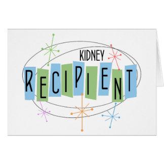 Beneficiario retro del trasplante del riñón del tarjeta pequeña
