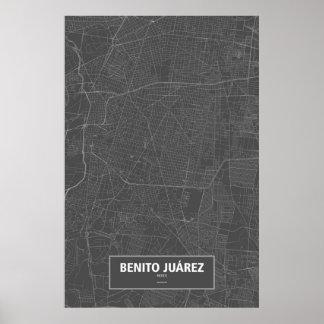 Benito Juárez, México (blanco en negro) Póster