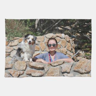 Bennett - mini australiano - Rosie - playa de Paño De Cocina