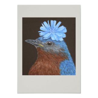 Benny la tarjeta plana del bluebird invitación 12,7 x 17,8 cm