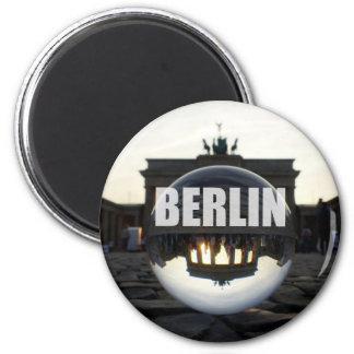BERLÍN Brandenburger portería, Brandeburgo Gate su Imán Redondo 5 Cm