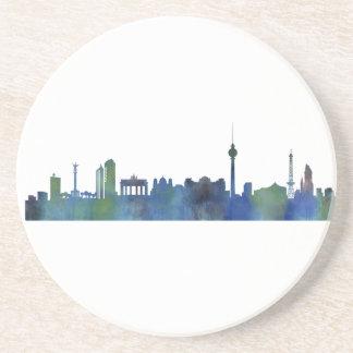 Berlin city Germany Skyline art watercolor Posavasos De Arenisca
