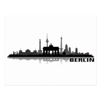 Berlín ciudad horizonte - tarjeta postal