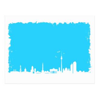 Berlín horizonte color azul postal