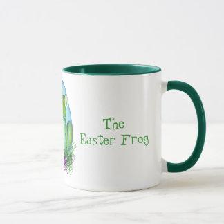 Bernard la taza de café de la rana de Pascua