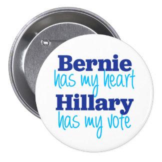 Bernie tiene mi corazón, Hillary tiene mi botón