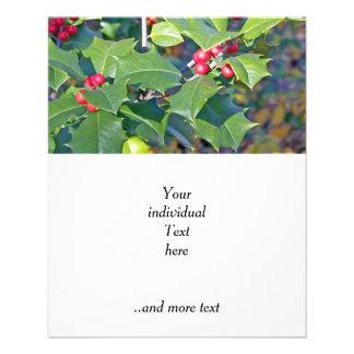 berrie del acebo, naturaleza flyer personalizado