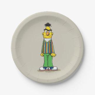 Bert frustrado plato de papel