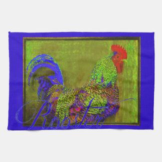 Bert la toalla de cocina retra del arte del gallo
