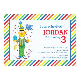 Bert rayó cumpleaños invitación 12,7 x 17,8 cm
