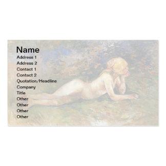 Berthe Morisot - el Sherperdess de descanso Tarjetas De Visita
