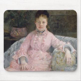 Berthe Morisot - el vestido rosado Alfombrilla De Ratón