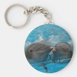 Besar delfínes llavero redondo tipo chapa