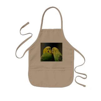 Besar el pájaro del loro de Budgie Delantal Infantil