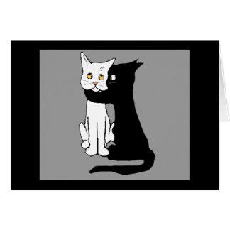 Besar gatos tarjeta de felicitación