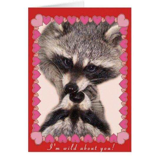 Besar mapaches tarjeta de felicitación