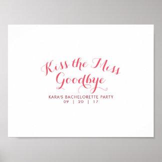 Bese a la Srta. Goodbye Bachelorette Party Guest Póster