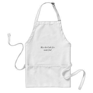 Bese al cocinero si u quiere la comida delantal
