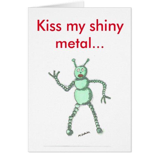 Bese mi tarjeta del robot