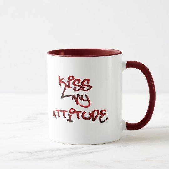 Bese mi taza de la actitud