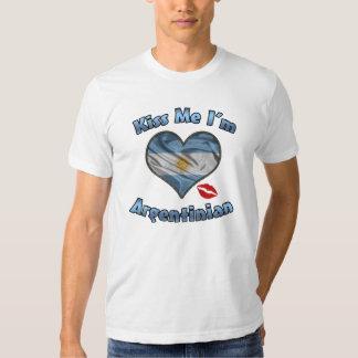 Béseme que soy camiseta argentina de la bandera -