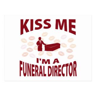Béseme que soy director de funeraria tarjetas postales