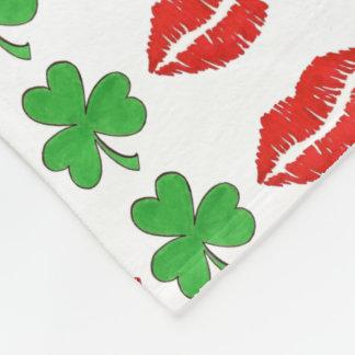 Béseme que soy manta irlandesa del día de San