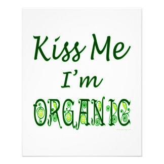 Béseme que soy refrán verde orgánico tarjeta publicitaria