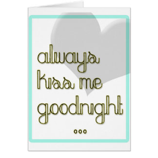 béseme siempre buenas noches corazón amarillo azul tarjeton