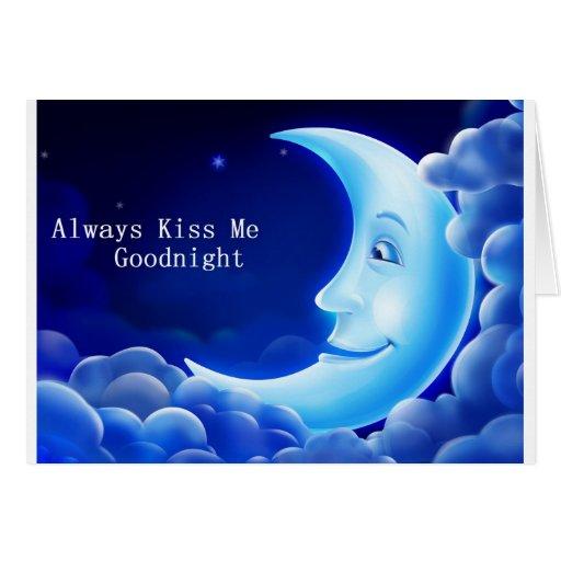 béseme siempre las buenas noches felicitacion
