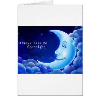 béseme siempre las buenas noches tarjetas
